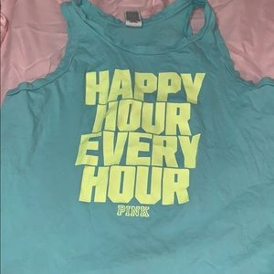 PINK happy hour workout tank